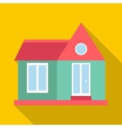 Stylish house icon flat style vector image