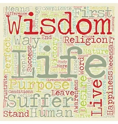 Wisdom text background wordcloud concept vector