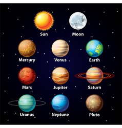 planets set vector image