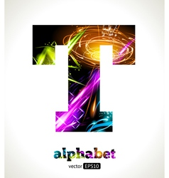 Design abstract letter t vector