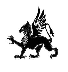 Griffin heraldry 2 vector