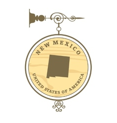Vintage label New Mexico vector image