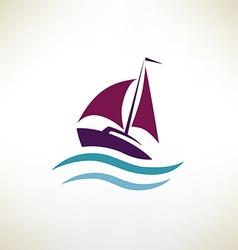 Yacht symbol regatta concept vector