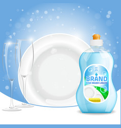 3d of dishwashing liquid vector