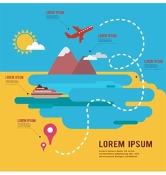 Summer holidays infograpics travel around the vector
