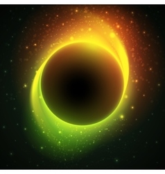 Beautiful eclipse in a distant galaxy vector