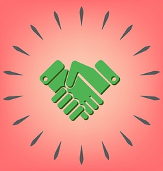Shaking hands icon handshake business and finance vector