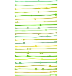 Liquid organic green yellow stripe lines pattern vector