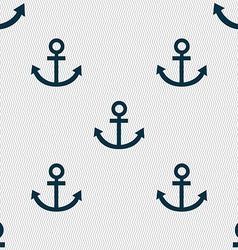 Anchor icon Seamless abstract background with vector image