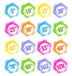 Sale discount percent icons vector