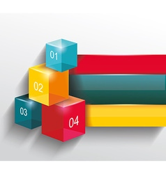 numbered banners infographic or web design vector image