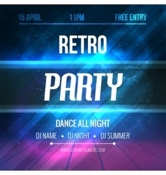 Dance retro party poster template night retro vector