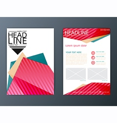 Abstract background business brochure flyer vector