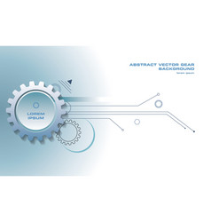 abstract gear background with lines in blue color vector image vector image