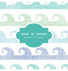 Abstract textile waves stripes frame seamless vector
