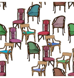 art nouveau furniture pattern vector image