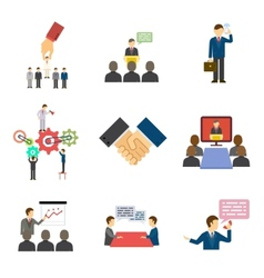 Businesspeople talking and speeches vector image