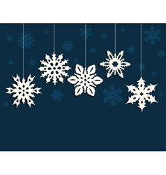 Christmas decoration with snowflakes vector image vector image
