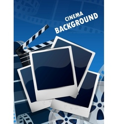 Cinema background vector image vector image