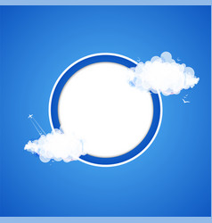 cloud theme background vector image vector image