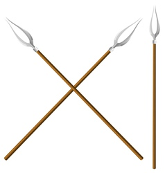 Crossed forks vector image