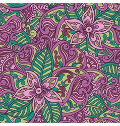 Decorative floral ornamental seamless pattern vector
