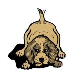 dog cartoon vector image vector image