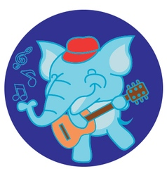Elephant and guitar vector