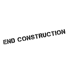 End construction rubber stamp vector