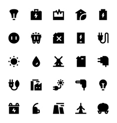 Energy and power icons 1 vector