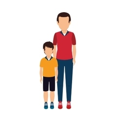 Father with son character vector