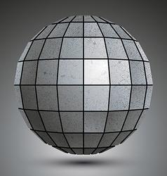Futuristic galvanized 3d globe created with vector