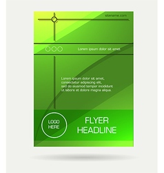 Green flyer brochure vector