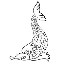 Heraldic dolphin no4 vector