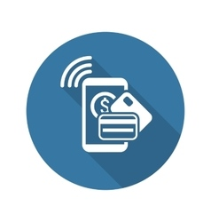 Mobile Payment Icon Flat Design vector image