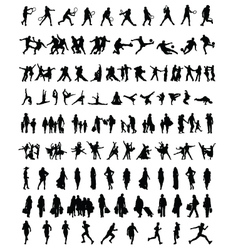 silhouettes of people 2 vector image vector image