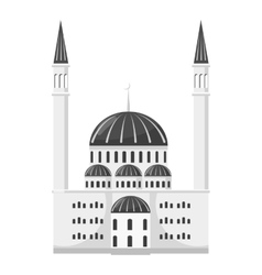 Synagogue icon gray monochrome style vector