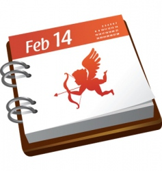 valentines calendar with cupid vector image