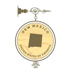 Vintage label new mexico vector