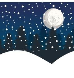 winter landscape background vector image vector image