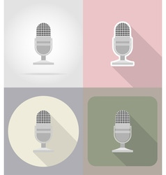 multimedia flat icons 02 vector image