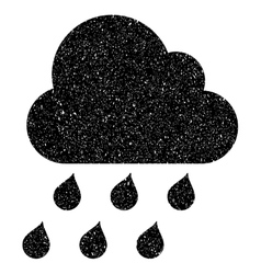 Rain cloud grainy texture icon vector