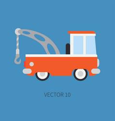 Plain flat color icon service staff car vector