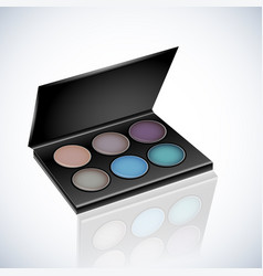 Makeup cosmetics eyeshadow palette vector