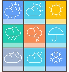 Weather sign vector