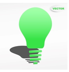 Creative light bulb label design vector