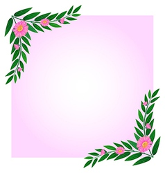 An empty template with pink floral border vector