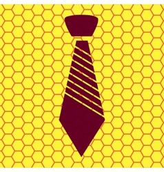 Hipster tie flat modern web button and space for vector