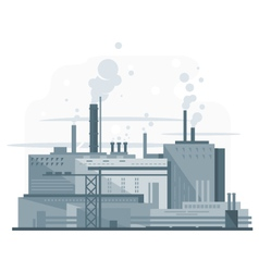 Industrial factory flat style vector
