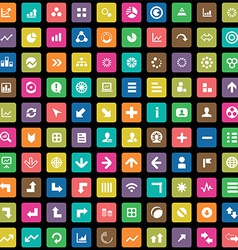 100 diagram icons vector